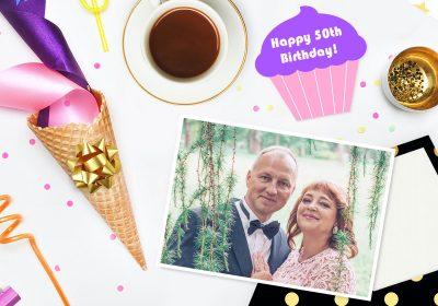 Escribe una tarjeta de felicitación para tu 50 cumpleaños